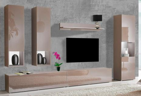 wohnwand cappuccino online bestellen bei yatego. Black Bedroom Furniture Sets. Home Design Ideas