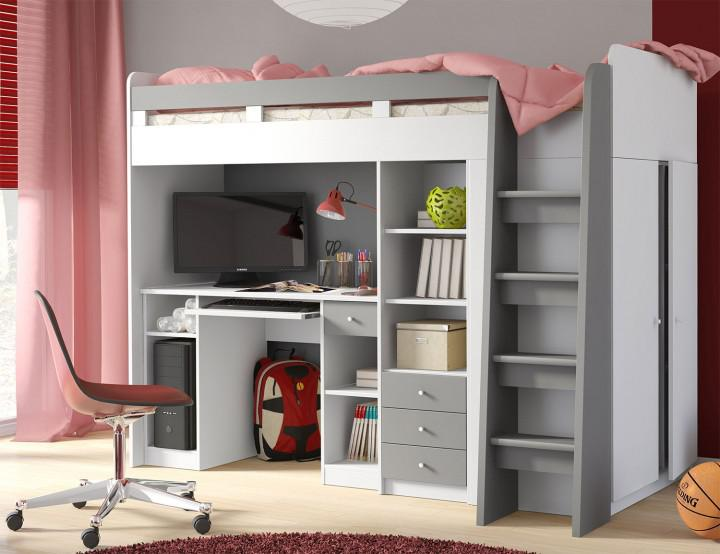 hochbett mit integriertem begehbaren kleiderschrank die neuesten innenarchitekturideen. Black Bedroom Furniture Sets. Home Design Ideas