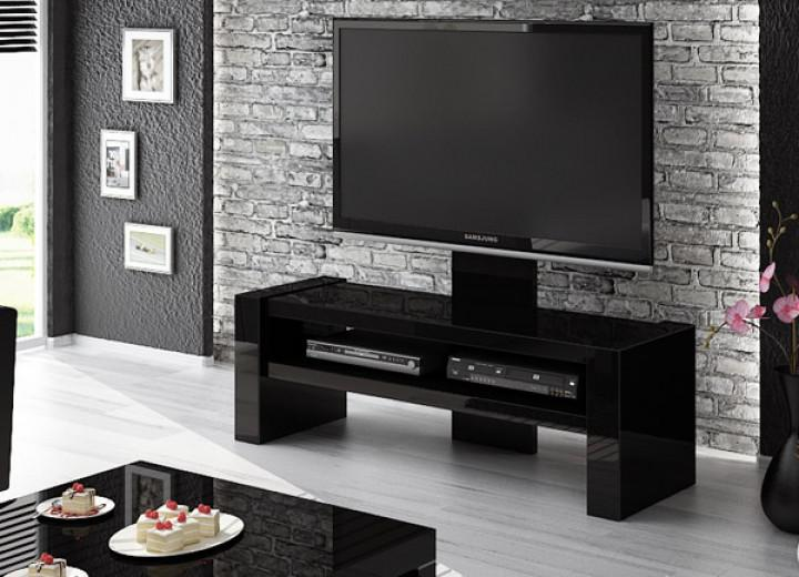 hochglanz lowboard anrichte mit tv halterung schwarz neu kaufen bei feldmann wohnen gmbh. Black Bedroom Furniture Sets. Home Design Ideas