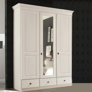 kleiderschrank wei 3 t rig mit spiegel bei yatego. Black Bedroom Furniture Sets. Home Design Ideas
