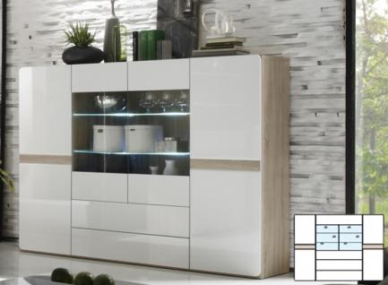 highboard eiche weiss hochglanz g nstig bei yatego. Black Bedroom Furniture Sets. Home Design Ideas