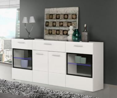 sideboard schwarz weiss hochglanz kaufen bei yatego. Black Bedroom Furniture Sets. Home Design Ideas