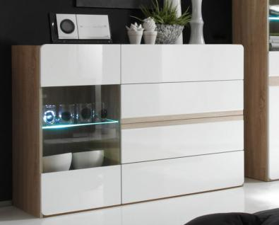 sideboard eiche s gerau wei g nstig online kaufen yatego. Black Bedroom Furniture Sets. Home Design Ideas