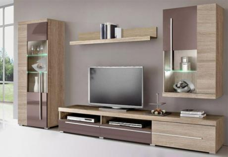 hochglanz wohnwand braun g nstig kaufen bei yatego. Black Bedroom Furniture Sets. Home Design Ideas