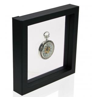 SAFE 4506 SCHWEBE RAHMEN FOTORAHMEN BILDERRAHMEN 3D Schwarz 180 x 180 mm Für Taschenuhren