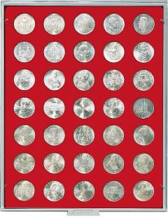 LINDNER 2125 MÜNZBOXEN Münzbox Standard für 35 Münzen 30 mm Ø 3 Reichsmark 1 Unze Meaple Leaf Gold - Vorschau 1