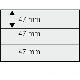 SAFE 743 DIN A5 Einsteckkarten Steckkarten Klemmkarten schwarze Folie + 3 Streifen glasklar 47x210 mm