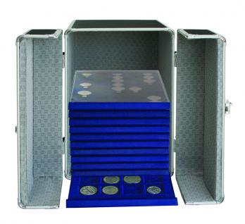SAFE 204 ALU SAMMLER-SAFE Koffer (leer) Für bis zu 17x Leuchtturm Lindner Münzboxen Standard / Rauchglas