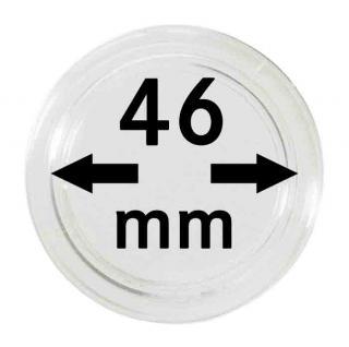 10 LINDNER Münzkapseln / Münzenkapseln Capsules Caps 46 mm 2250046P