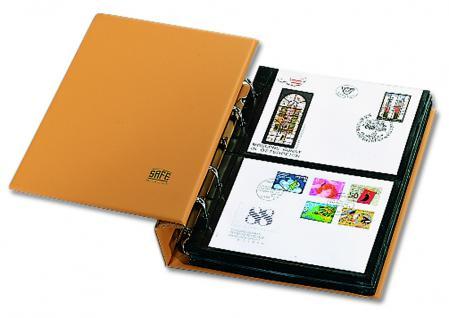 SAFE 7888 Luxus Skai Compact Briefealbum mit 20 Blättern 7878 erweiterbar bis 220 FDC Briefe