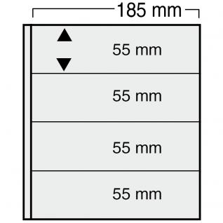 10 x SAFE 875 Ergänzungsblätter Variant + schwarzen ZWL mit 5 Taschen 185 x 45 mm