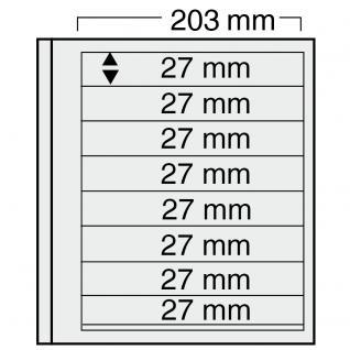 10 x SAFE 7128 EURO-SYSTEM Graue Einsteckblätter Ergänzungsblätter 8 Klemmstreifen 193 x 27 mm - Vorschau 1