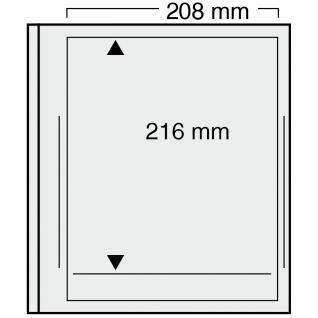 5 x SAFE 719 dual Blankoblätter Einsteckblätter Ergänzungsblätter mit je 1 Tasche 208 x 216 für Kleinbogen25 er Bogen Deutsche Bundespost