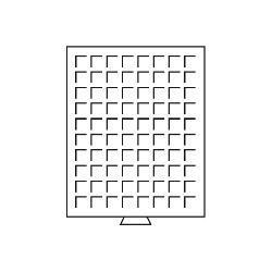 Leuchtturm 320976 Münzboxen Münzbox 80 runde Fächer 23,5 - 20 Euro Cent 1 DM 1 SFR. MBG80R Grau