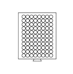 Leuchtturm 319385 Münzboxen Münzbox 88 runde Fächer 21, 5 mm - 5 Euro Cent 10 PF MBG88R Grau - Vorschau