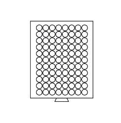 Leuchtturm 319385 Münzboxen Münzbox 88 runde Fächer 21,5 mm - 5 Euro Cent 10 PF MBG88R Grau