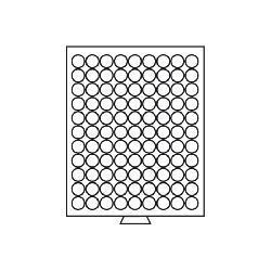 Leuchtturm 333044 Münzbox Münzboxen 99 runde Fächer 20 mm 10 Euro Cent 50 Pf. MB99R/20 Rauchfarbend - Vorschau