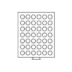 Leuchtturm 323892 Münzbox Münzboxen 42 runde Fächer 29 mm 5 DM Euro Mark DDR MBG42R/29 Grau