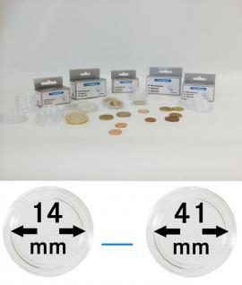 50 LEUCHTTURM Münzkapseln Münzenkapseln Capsules Caps alle Grössen - Durchmesser 14 - 41 mm FREIE AUSWAHL - Vorschau