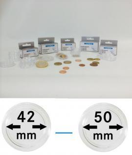 50 LEUCHTTURM Münzkapseln Münzenkapseln Capsules Caps alle Grössen - Durchmesser 42 - 50 mm FREIE AUSWAHL - Vorschau