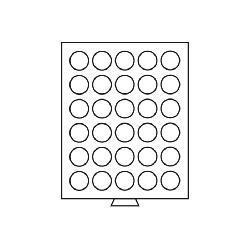Leuchtturm 330792 Münzbox Münzboxen 30 runde Fächer 36 mm 100 ÖS Schilling - 100 Sfr Gold MB30R/36 Rauchfarbend