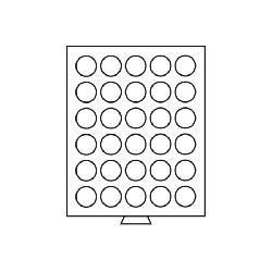 Leuchtturm 332207 Münzbox Münzboxen 30 runde Fächer 36 mm 100 ÖS Schilling - 100 Sfr Gold MBG30R/36 Grau - Vorschau