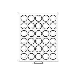 Leuchtturm 330603 Münzbox Münzboxen 30 runde Fächer 38 mm US $ Silver Smal MB30R/39 Rauchfarbend - Vorschau