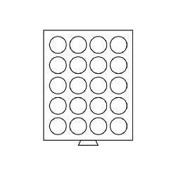Leuchtturm 307555 Münzbox Münzboxen 20 runde Fächer 38 mm 500 ÖS US Morgan Dollar $ MBG20R Grau