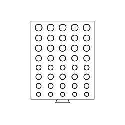 Leuchtturm 316185 Münzbox Münzboxen 5 komplette Euro KMS Kursmünzensätze 1 Cent - 2 Euro Münzen MBEUROR Rauchfarbend - Vorschau