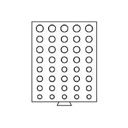 Leuchtturm 329074 Münzbox Münzboxen 5 komplette Euro KMS Kursmünzensätze MBGEUROR Grau - Vorschau