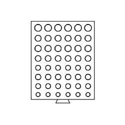 Leuchtturm 333140 Münzbox Münzboxen 6 komplette Euro KMS Kursmünzensätze 1 Cent - 2 Euromünzen MBGEUROR/6 Grau