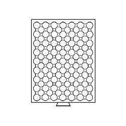Leuchtturm 309829 Münzbox Münzboxen 63 runde Fächer CAPS 16, 5 mm 1 Euro Cent MBCAPS16.5 Rauchfarbend - Vorschau