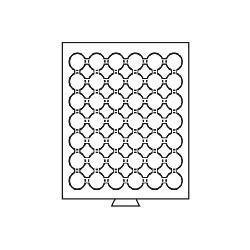 Leuchtturm 322848 Münzbox Münzboxen 42 Fächer CAPS 24 - US Quarters 1 DM 1 Sfr MBGCAPS24 Grau