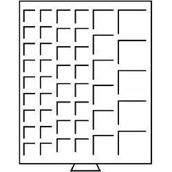 Leuchtturm 317322 Münzbox Münzboxen 45 eckige Fächer mit diversen Durchmessern ideal für Anfänger MBGMIX Grau