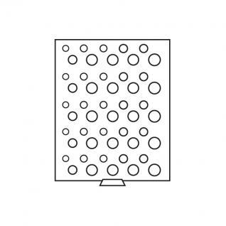 Leuchtturm 311779 Münzbox Münzboxen 50 runde Fächer für 5 Deutsche Kursmünzensätze KMS 1 Pf - 5 DM MBSETD Rauchfarbend