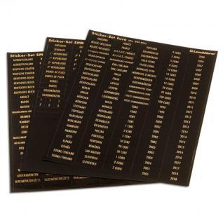 Leuchtturm 325543 Selbstklebende schwarze Münzboxen - Etiketten goldfarbene Schrift alle Welt EMB2 - Vorschau 2