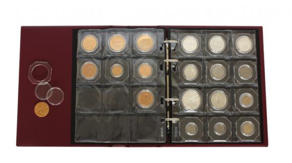 5 x LINDNER MC12 collect Münzblätter für 12 OCTO MÜNZKAPSELN / Münzrähmchen Standard 50 x 50 mm - Vorschau 2