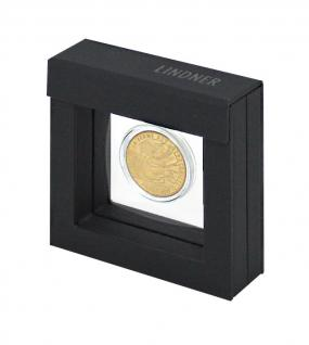 LINDNER Set 4835 - 015 NIMBUS OCTO Rahmen 66 x 66 x 24 mm + OCTO Münzkapsel 15 mm Ø für 1/20 Unze Gold Maple Leaf Panda China - Vorschau 2
