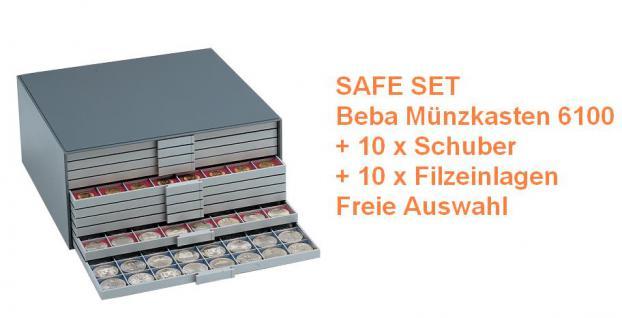 SAFE 6100 Set BEBA Münzkasten MAXI komplett mit + 10 Schubern Schubladen + Filze + Freie Auswahl - Vorschau 1