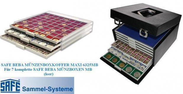 10 x BEBA 6160 Carre Münzrahmen Einlageschälchen 11, 6 mm Ausgleichsrahmen für MAXI Schuber 6101 6102 Münzboxen 6601 - Vorschau 3