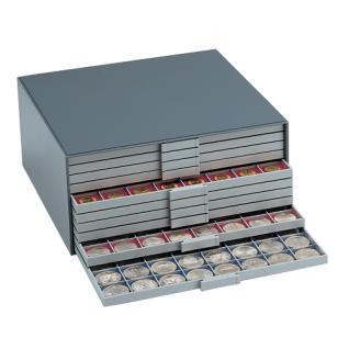 10 x BEBA 6160 Carre Münzrahmen Einlageschälchen 11, 6 mm Ausgleichsrahmen für MAXI Schuber 6101 6102 Münzboxen 6601 - Vorschau 4