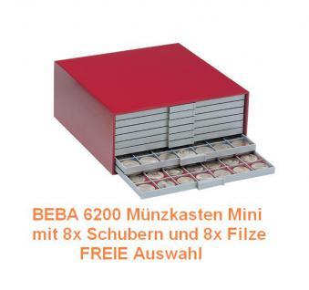 SAFE SET 6200 BEBA Münzkasten MINI befüllt mit 8 Schubladen Schubern + 8 x Filzeinlagen Freie Auswahl