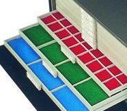 SAFE 6215 BEBA Filzeinlagen BLAU für Schublade Schuber 6205 Münzkasten Mini