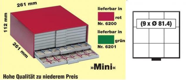 SAFE 6203 BEBA Schuber Schubladen Münzschuber 9 quadratische Fächer x 81, 4 mm für den MINI Münzkasten - Vorschau 2