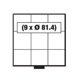 SAFE 6203 BEBA Schuber Schubladen Münzschuber 9 quadratische Fächer x 81, 4 mm für den MINI Münzkasten - Vorschau 1
