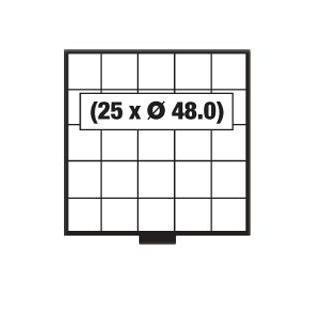 SAFE 6205 BEBA Schuber Schubladen Münzschuber 25 quadratische Fächer 48, 0 mm für den MINI Münzkasten - Vorschau 1