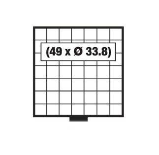 SAFE 6207 BEBA Schuber Schubladen Münzschuber 49 quadratische Fächer 33, 8 mm für den MINI Münzkasten