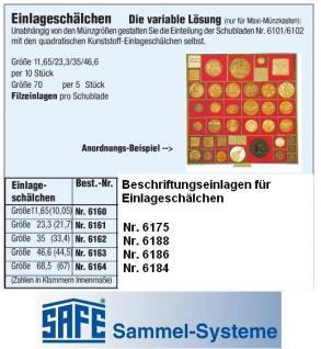 SAFE 6188 BEBA Beschriftungseinlagen Kartoneinlagen Etiketten für Einlageschälchen 6162