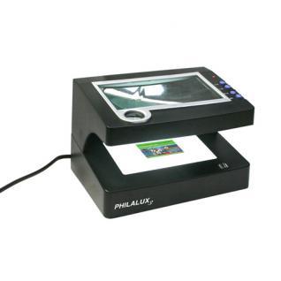 SAFE 9865 Philalux3 Lupe & UV Lampe. UVC 256nm Phosphor UV 366 nm - 2, 5 - 12, 5 fache Vergrößerung