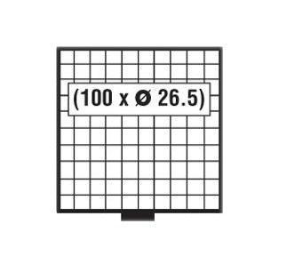 SAFE 6610 G BEBA MÜNZBOXEN MB 100 quadratische Fächer 26,5 mm + grünen Filzeinlagen - Vorschau 2